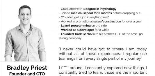 Bradley Priest, Founder & CTO, TradeGecko