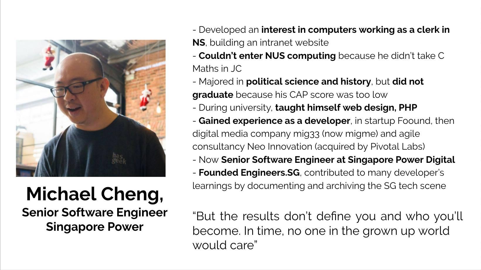 Michael Cheng, Senior Software Engineer, Singapore Power