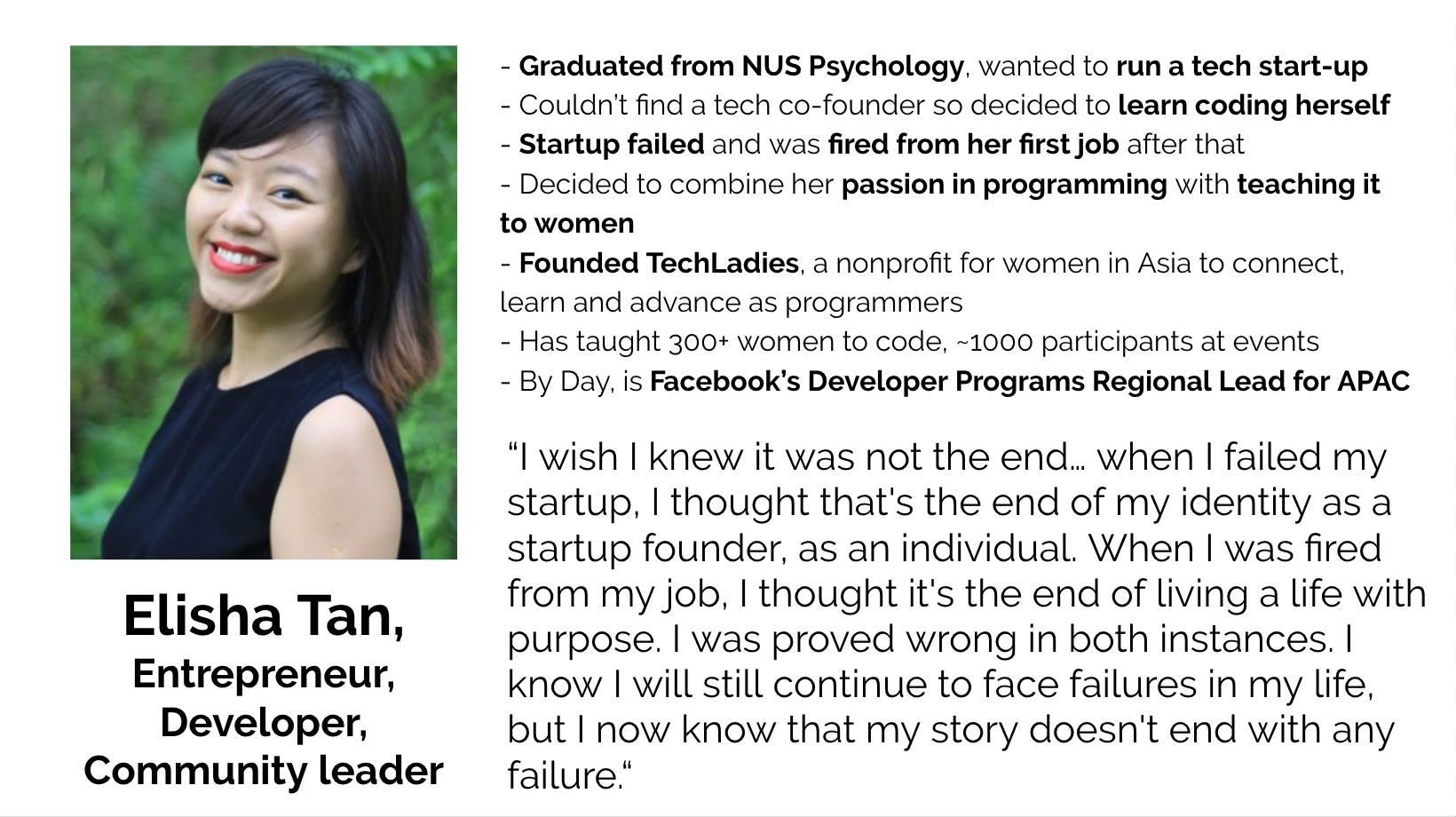 Elisha Tan, TechLadies, Developer Progams Regional Lead for APAC, Facebook