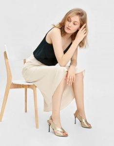 The New Savvy -Charles& Keith Crossband Slingback Heeled Sandals