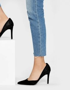 The New Savvy -Charles& Keith Velvet Flocking Pointed Pumps 1