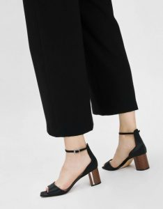 The New Savvy -Charles& Keith Wooden Block Heels Satin Sandals 1